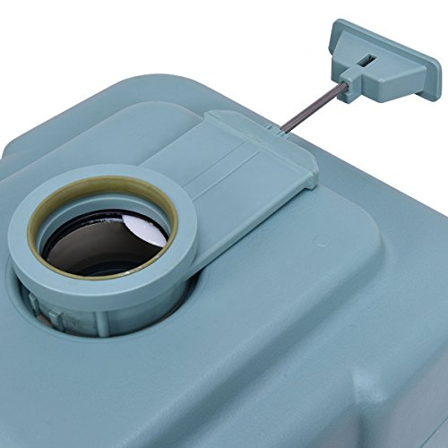 20L Easy Carry & Clean Portable TravelFlush Toilet Greenish Gray Potty by FDInspiration (Image #5)