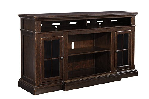 Ashley Furniture Signature Design – Roddinton TV Stand – 74 in – Rectangular – Dark Brown