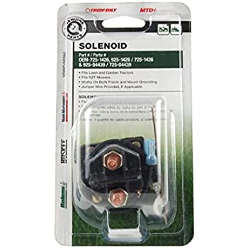Amazon.com : MTD, Ward, Yard Man, Starter Solenoid; 725-1426 ... on