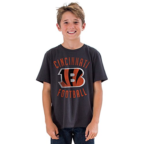 - Junk Food NFL Cincinnati Bengals Boys Kick Off Crew Short Sleeve Tee, Black Wash, Large