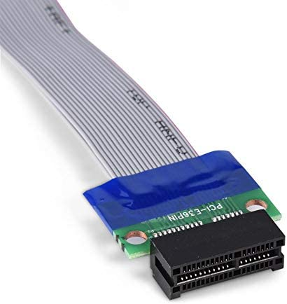 Computer Cables PCI-E Professional 1X 4X 8X 16X Male to Female VGA Graphics Card Extended Ribbon Cable PCI-E Extension Flat Ribbon Cables Cable Length: 1X to 16X