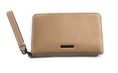 Rebecca Minkoff Regan Universal iPhone Plus Leather Wristlet Wallet, Nude