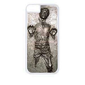 Han Solo Carbonite (FLAT BACK) Hard White Plastic Snap - On Case-Apple Iphone 6 Only - Great Quality!
