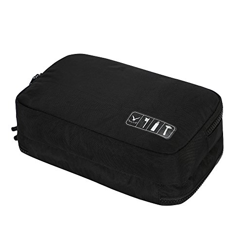 Hynes Eagle Toiletry Organizer Bag Travel Shaving Dopp Kit Cosmetic Case Makeup Pouch Black ()