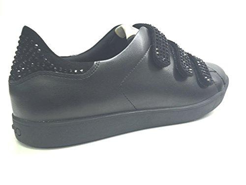 Liu Negro Strass Velcri Aura Running Con Jo Cuero Sneaker Mujer r0qwfrzv