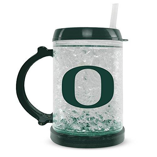 NCAA Oregon Ducks 8oz Junior Crystal Freezer Mug with Lid and Straw