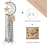 Dremisland Blue Dream Catcher Handmade Half Circle