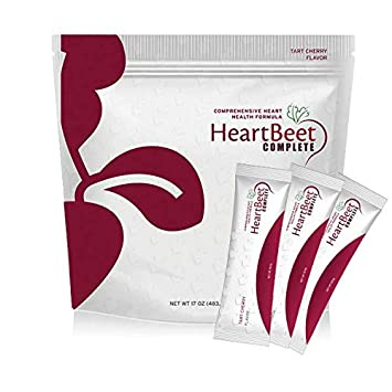 Beetroot Powder Formula for Blood Pressure Support with L-arginine, L-citrulline, CoQ10 and Turmeric. 30 Convenient Stick Packs in Each Bag. Natural Side-Effect Free HeartBeet Complete.