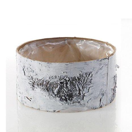 - Afloral White Birch Bark Bowl - 4.5