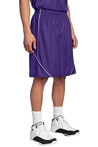 Sport-Tek Men's PosiCharge Mesh Reversible Spliced Short M Purple