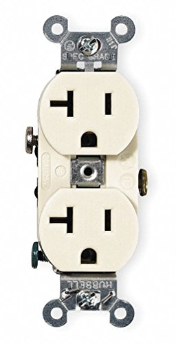 Receptacle, Duplex, 20A, 5-20R, 125V, Ivory