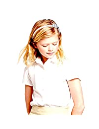Cat & Jack Girls' Short Sleeve Woven Uniform Blouse - White -