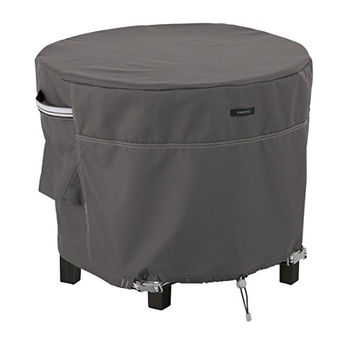 Classic Accessories 55-869-035101-EC Ravenna Round Patio Ottoman/Side Table Cover, (Patio Table Grill)