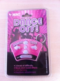Dance Off! Hand Held Key Chain Game with 3 Levels of Difficulty, Music, Sound Effects & LED (Sound Effects Keychain)