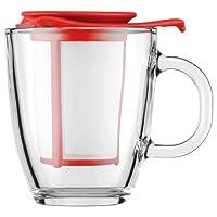 Bodum - K11239-01 - Yo-Yo - Set Mug Infuseur Individuel en Verre Trempé - Filtre Nylon - 35 cl