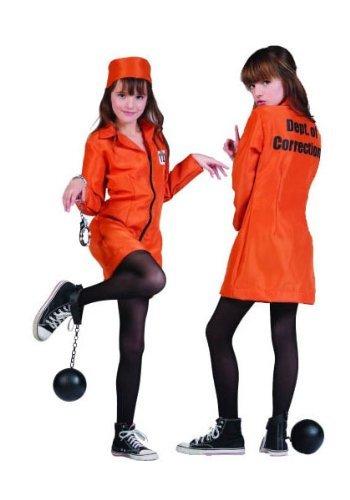 RG Costumes Girls Not Guilty Prisoner Costume by RG Costumes (Girl Prisoner Costume)