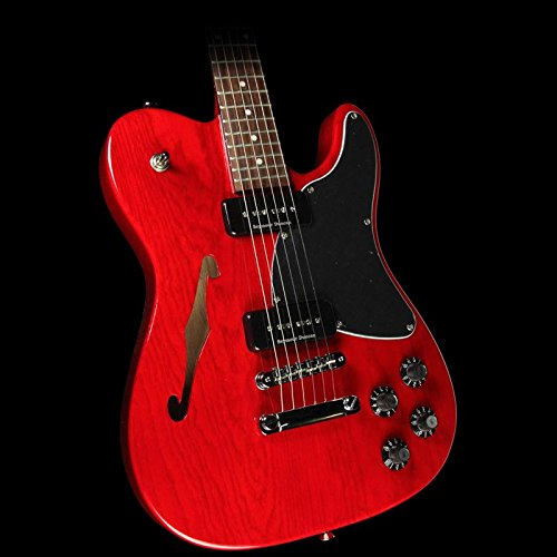 fender jim adkins ja 90 telecaster thinline electric guitar crimson transparent rosewood. Black Bedroom Furniture Sets. Home Design Ideas