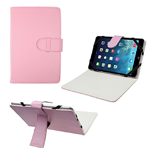 Sannysis Universal Leather Stand Case Cover For ipad Mini Android Tablet PC (Pink)