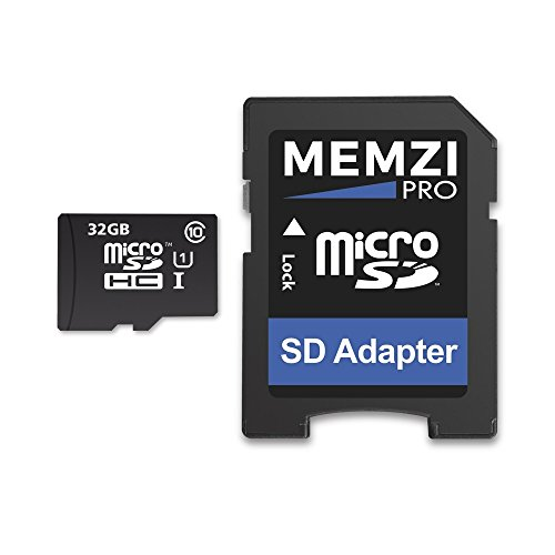 MEMZI PRO 32GB Class 10 90MB/s Micro SDHC Memory Card with SD Adapter for Garmin Drive, DriveSmart or DriveLuxe Series Sat Nav's