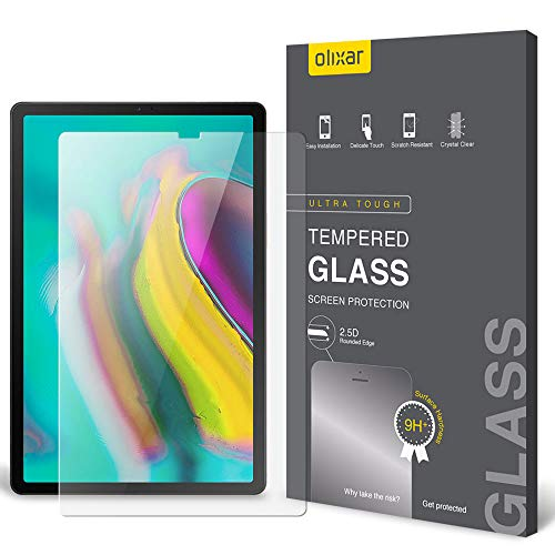 Olixar Samsung Galaxy Tab S5e Screen Protector - Tempered Glass Screen Protection - 9H Rated - Shock Protection - Clear - Easy Application Card and Cleaning Cloth Included
