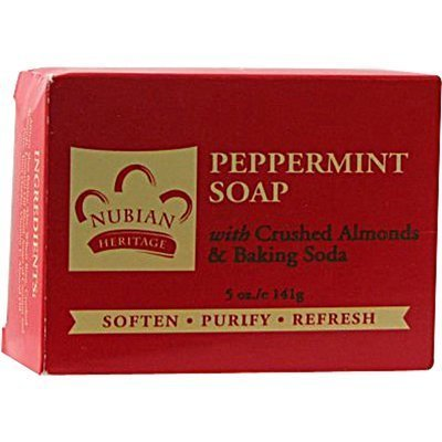 Peppermint Soap with Crushed Almonds & Baking Soda ( Multi-Pack) by Nubian (Almond Soda)