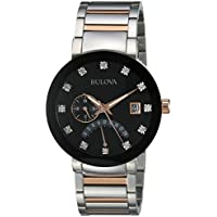 Refurb Bulova Diamonds Men's Quartz Two-Tone Bracelet Watch
