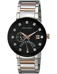 Bulova Men's Quartz Stainless Steel Dress Watch, Color:Two Tone (Model: 98D129)