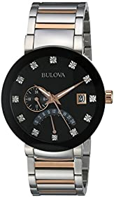 Bulova Men's Quartz Stainless Steel Dress Watch, Color:Two Tone (Model: 98D129)