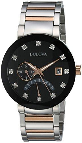 Bulova Diamond Accent Watch (Bulova Men's Quartz Stainless Steel Dress Watch, Color:Two Tone (Model: 98D129))