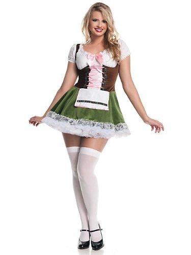 Plus Size German Beer Girl Costume (German Beer Girl Adult Costume - Plus Size 2X)