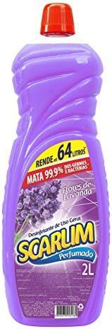 Desinfetante Flores de Lavanda 2l, Scarlim, Lilás Leitoso, Grande