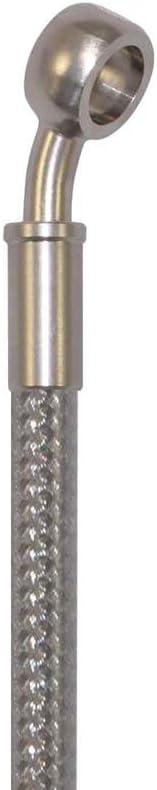 Pro Braking PBR4742-CLR-SIL Rear Braided Brake Line Transparent Hose /& Stainless Banjos