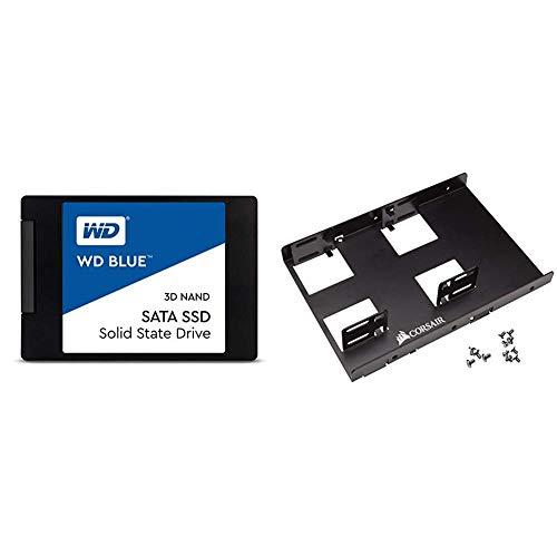 "WD Blue 3D NAND 500GB PC SSD - SATA III 6 Gb/s, 2.5""/7mm - WDS500G2B0A & Corsair Dual SSD Mounting Bracket 3.5"" CSSD-BRKT2"