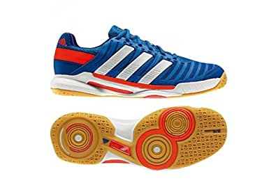 Adidas Adipower Stabil 10.1 Men's Indoor Court Shoe (11, Blue/White/Infrared)