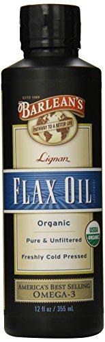 Lignan huile de lin bio de Barlean, 12 onces Bouteille
