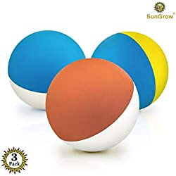 "3 Rubber Chew Balls for Small Dogs & Puppies (2.4"") --- Recommended by Veterinarians, trainers & Pet enthusiasts for Chewing Therapy - BPA-free - Float in pools - Works with Automatic Ball Launchers"