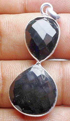 20.65CtsBlack onyx17mm/14x16mmPendant Fashion Jewelry