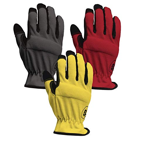 Firm Grip Utility Large Multi Color Synthetic Leather Glove -