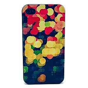 Patrón de la burbuja colorida de la PC dura para el iPhone 4/4S