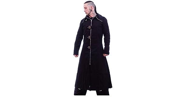 Necessary Evil Highwayman Gothic Full Length Long Mens Coat Black L: Amazon.es: Ropa y accesorios