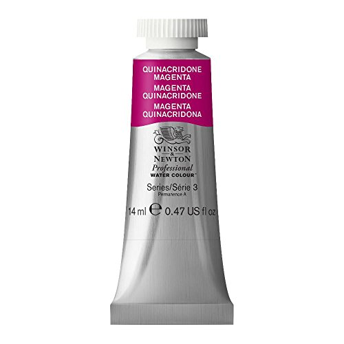 Magenta Water - Winsor & Newton Professional Water Colour Paint, 14ml tube, Quinacridone Magenta