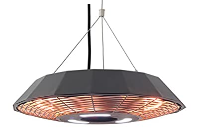 Ener-G+ Hanging Infrared Electric Outdoor Heater with LED Light & Remote