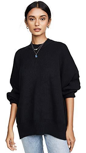 Free People Women's Easy Street Tunic Sweater, Black, Small ()