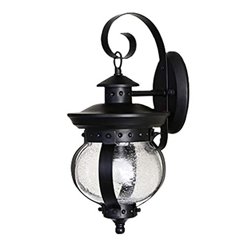 Tools & Home Improvement/Lighting & Ceiling Fans Single Head Wall lamp Outdoor Retro Wall lamp Simple Wall lamp Outdoor Balcony lamp Exterior Wall Garden Glass lamp A+ from Wall Lamps & Sconces