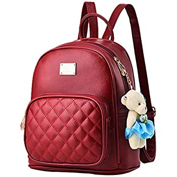eac4f7044c3e BAG WIZARD Leather Backpack Purse Satchel School Bags Casual Travel Daypacks  for Womens