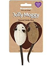 Rosewood Jolly Moggy Natural Wild Catnip Duo Mice Cat Toy