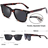 Carfia Chic Retro Polarized Womens Sunglasses UV400 Protection Hand-Polished Acetate Frame CA5354