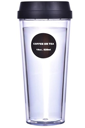 IIGStore Coffee Mug with Double Wall, Plastic Travel Cup wit