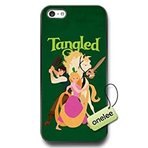Disney Tangled Soft Rubber(TPU) Phone Case for iPhone 5c - Personalized Disney Princess Rapunzel iPhone 5c Case & Cover - Black