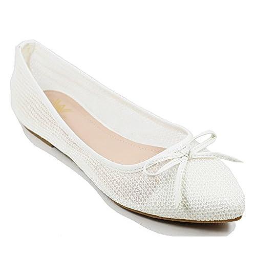 d92e6296b chic Walstar Women s Flat Shoes wedding bridal flats - appleshack.com.au